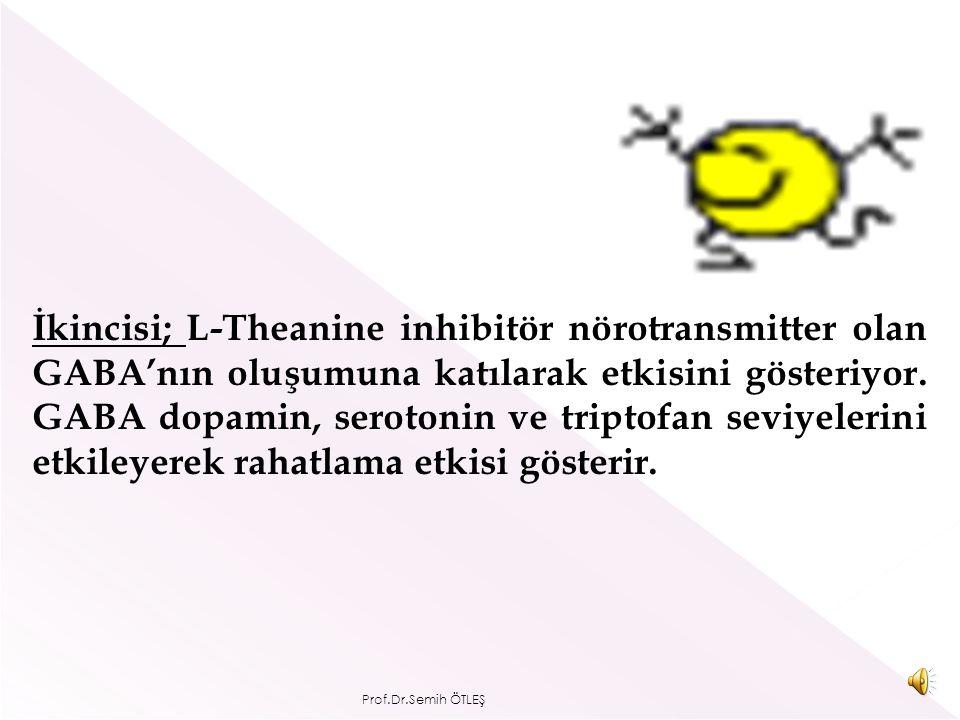 Yapılan araştırmalarda L-Theanine'in rahatlatıcı etkisinin tüketiminden yaklaşık 30-40dk sonra iki farklı mekanizma ile ortaya çıktığı görülüyor.