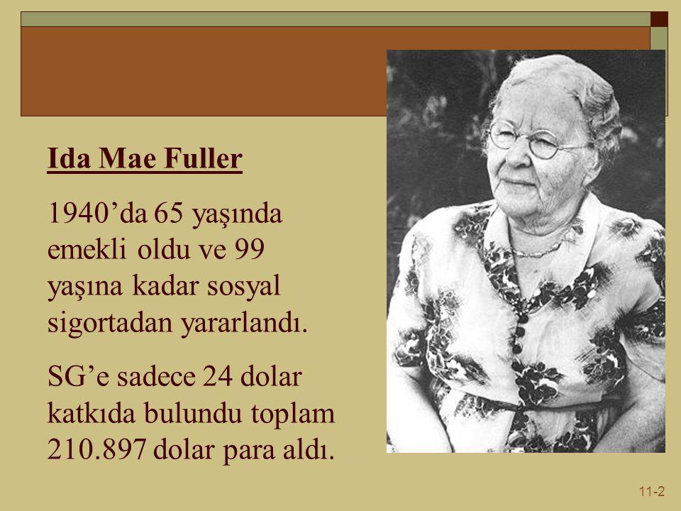 11-2 Ida Mae Fuller 1940'da 65 yaşında emekli oldu ve 99 yaşına kadar sosyal sigortadan yararlandı.