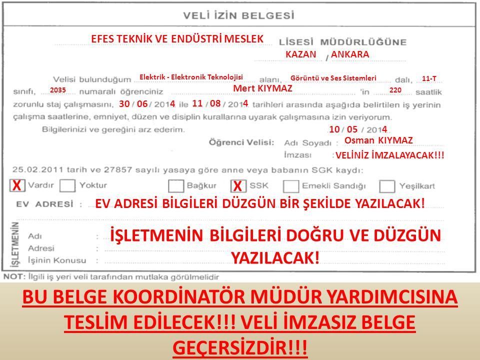 EFES TEKNİK VE ENDÜSTRİ MESLEK KAZAN ANKARA Elektrik - Elektronik Teknolojisi Görüntü ve Ses Sistemleri 11-T 2035 Mert KIYMAZ 220 30 06 4 11 08 4 10 0