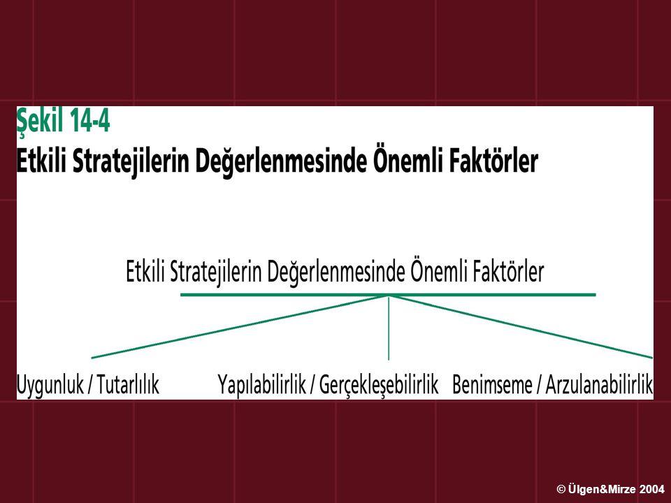 Stratejik Değerleme ve Kontrol Teknikleri Üst yönetim stratejik kontroller için işletme içinde takımlar ve komiteler kurarak stratejileri her evrede ve aşamada denetlemeye çalışır.