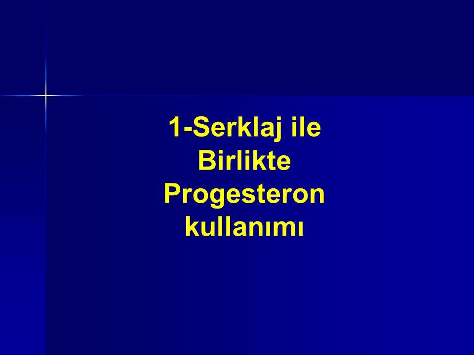 1-Serklaj ile Birlikte Progesteron kullanımı