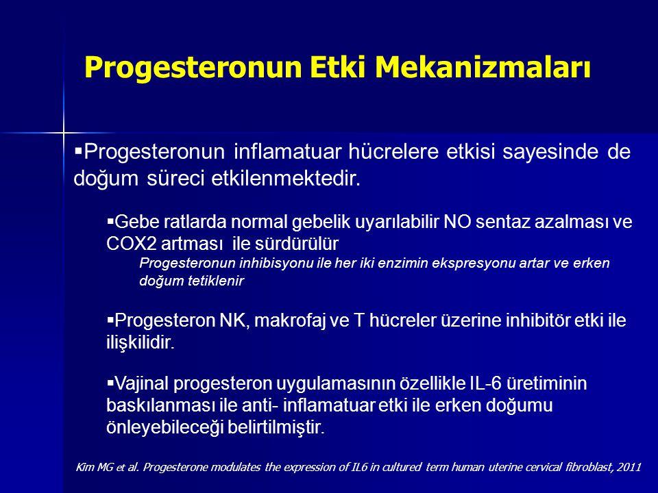 2-Pozitif fFN testi hastalarda Progesteron kullanım