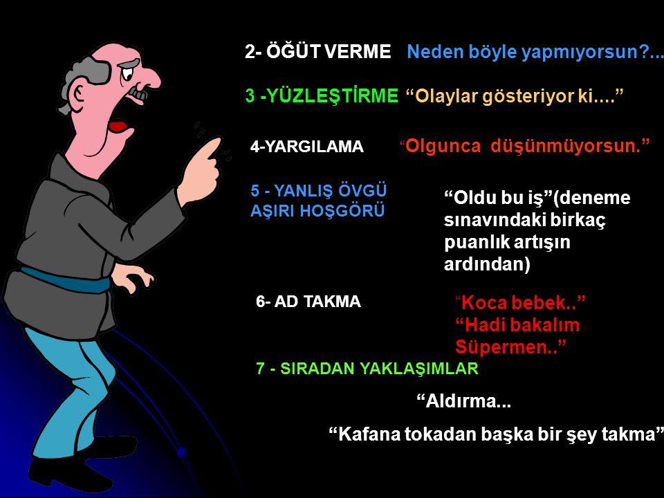 1.EMİR VERME KONUŞMA KATİLLERİNDEN SAKININ YAPMAK ZORUNDASIN!!.