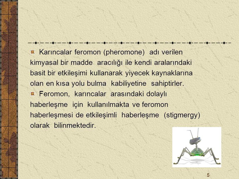 6 Böcek zekası, sınırlı kapasiteli zeki olmayan bireylerin topluca zeki davranış sergilediği sistemin bir özelliğidir.