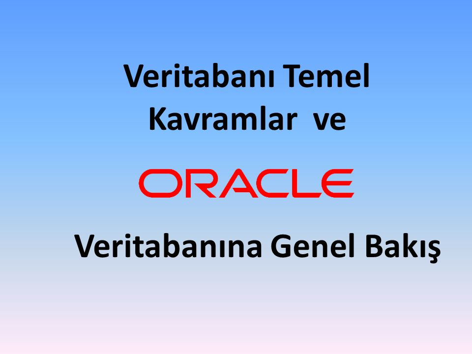 Storage structures Memory structures Process structures Instance System Global Area (SGA) Background processes Database files Veritabanı Mimarisi