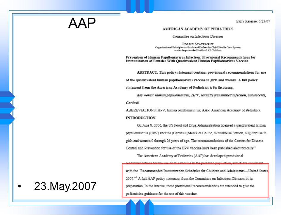 AAP 23.May.2007