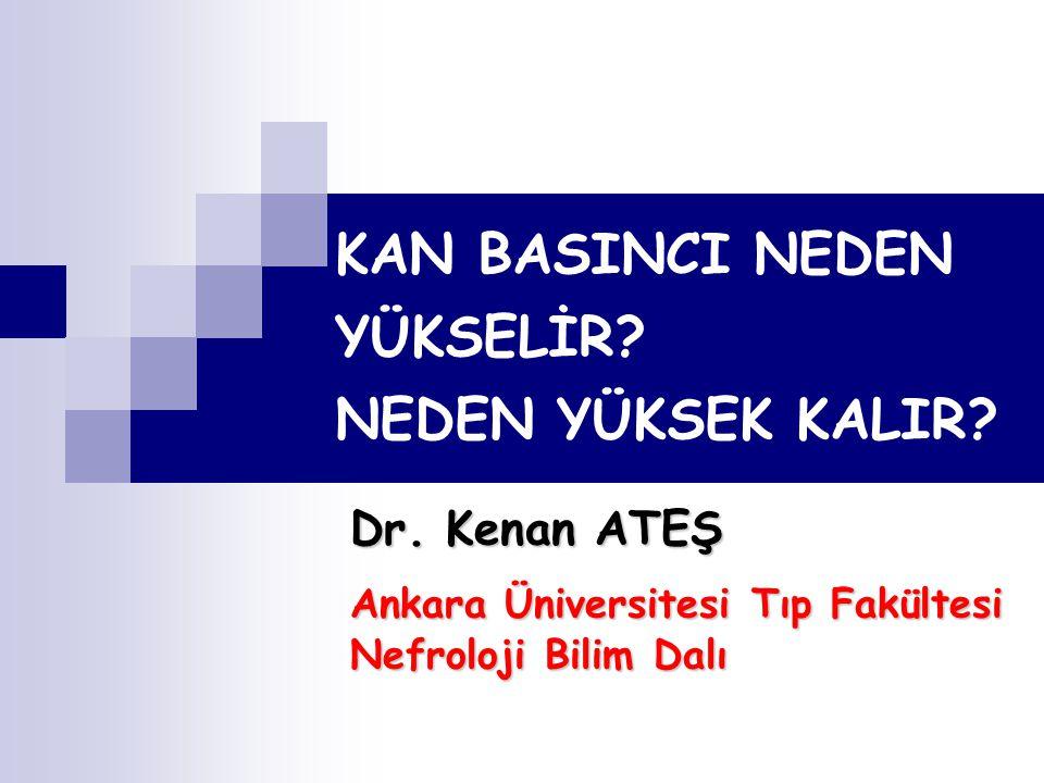 HİPERTANSİYON İNSİDANSI KB'INDA ARTIŞ İNSİDANSI Sundström J, et al.