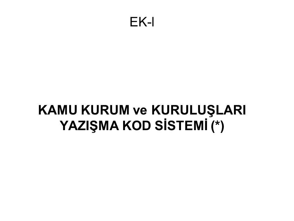 EK-3D ÖRNEK ALT BİRİM KODLAMASI – MESLEK YÜKSEKOKULU (İstanbul Üniversitesi Sağlık Hizmetleri Meslek Yüksekokulu*) B 30 2 İST 0 M3 00 00 SAĞLIK HİZMETLERİ MESLEK YÜKSEKOKULU MÜDÜRLÜĞÜ B 30 2 İST 0 M3 01 00 MÜDÜR SEKRETERİ B 30 2 İST 0 M3 05 00 KURULLAR B 30 2 İST 0 M3 10 00 DİŞ PROTEZ PROGRAMI B 30 2 İST 0 M3 11 00 RADYOLOJİ PROGRAMI B 30 2 İST 0 M3 12 00 YÖNETİM TIBBİ DOKÜMANTASYON VE SEKRETERLİK PROGRAMI B 30 2 İST 0 M3 13 00 TIBBİ LABORATUVAR PROGRAMI B 30 2 İST 0 M3 14 00 AĞIZ DİŞ SAĞLIĞI PROGRAMI B 30 2 İST 0 M3 60 00 TEFTİŞ İŞLERİ B 30 2 İST 0 M3 63 00 BASIN YAYIN VE HALKLA İLİŞKİLER B 30 2 İST 0 M3 70 00 YÜKSEKOKUL SEKRETERLİĞİ B 30 2 İST 0 M3 71 00 PERSONEL İŞLERİ B 30 2 İST 0 M3 72 00 ÖĞRENCİ İŞLERİ B 30 2 İST 0 M3 73 00 İDARİ İŞLER B 30 2 İST 0 M3 74 00 MALİ İŞLER B 30 2 İST 0 M3 75 00 SAVUNMA SEKRETERLİĞİ B 30 2 İST 0 M3 76 00 DIŞ İLİŞKİLER B 30 2 İST 0 M3 77 00 BİLGİ İŞLEM B 30 2 İST 0 M3 78 00 KÜTÜPHANE B 30 2 İST 0 M3 79 00 SAĞLIK İŞLERİ B 30 2 İST 0 M3 80 00 BAKIM ONARIM VE TESİSLER B 30 2 İST 0 M3 81 00 DÖNER SERMAYE *(Ek 1B) Fakülte, Enstitü, Yüksekokul ve Meslek Yüksekokullarında GG Seviyesinde Kullanılacak Standart Alt Birim Kodları esaslarına göre yapılmıştır.