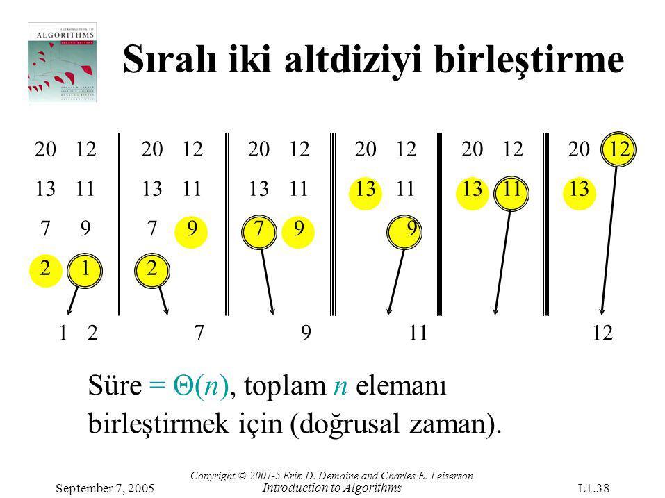 2012 1311 79 21 1 2012 1311 79 2 27911 Süre = Θ(n), toplam n elemanı birleştirmek için (doğrusal zaman). 2012 1311 79 2012 1311 9 2012 1311 2012 13 12
