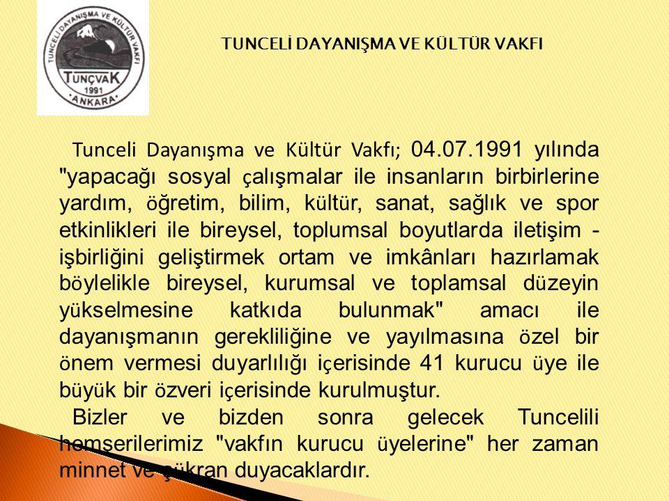 TUNCELİ DAYANIŞMA VE KÜLTÜR VAKFI Burs alan ve Ankara'da okumaya gelen öğrencilerimize tanışma yemeği