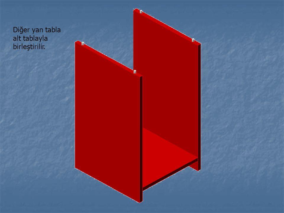 Diğer yan tabla alt tablayla birleştirilir.