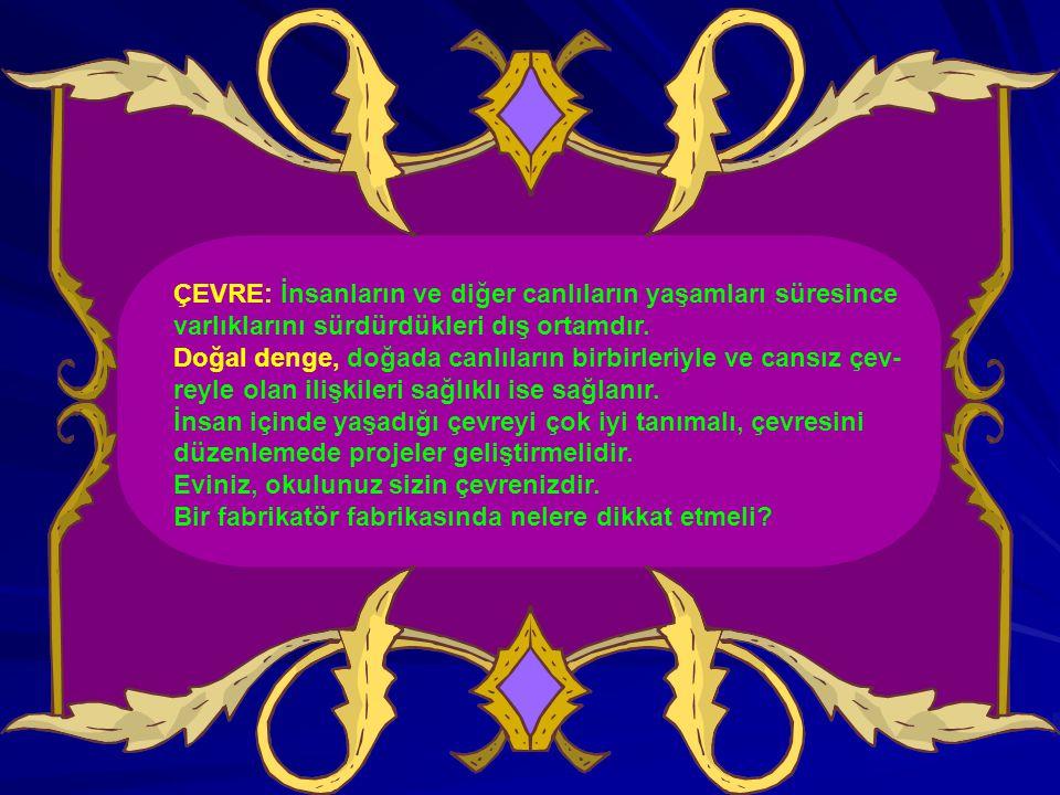 II.ÇEVRENİN CANSIZ VE CANLI ETMENLERİ ÇEVRE Cansız (Abiyotik) etmenler Canlı (Biyotik) etmenler 1.Işık 1.