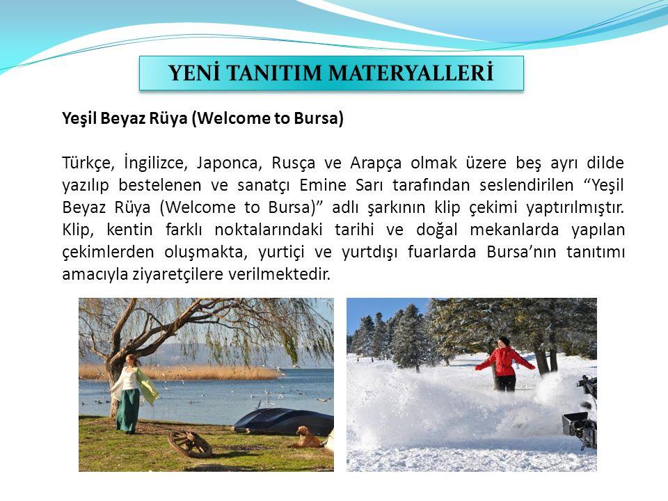 Yeşil Beyaz Rüya (Welcome to Bursa) Türkçe, İngilizce, Japonca, Rusça ve Arapça olmak üzere beş ayrı dilde yazılıp bestelenen ve sanatçı Emine Sarı ta