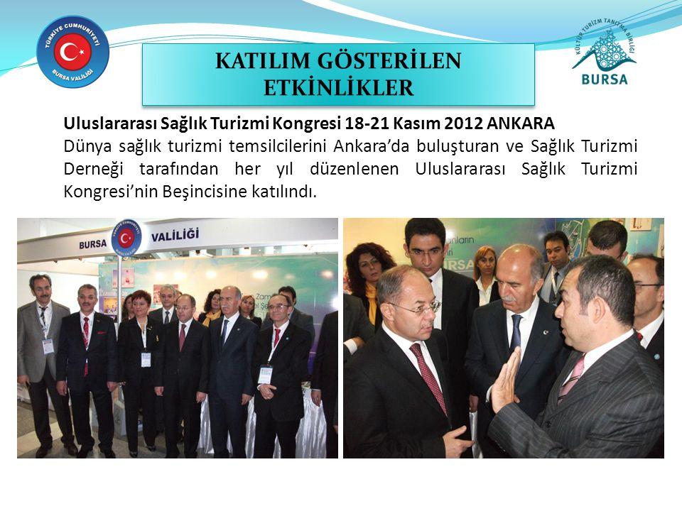 Uluslararası Sağlık Turizmi Kongresi 18-21 Kasım 2012 ANKARA Dünya sağlık turizmi temsilcilerini Ankara'da buluşturan ve Sağlık Turizmi Derneği tarafı