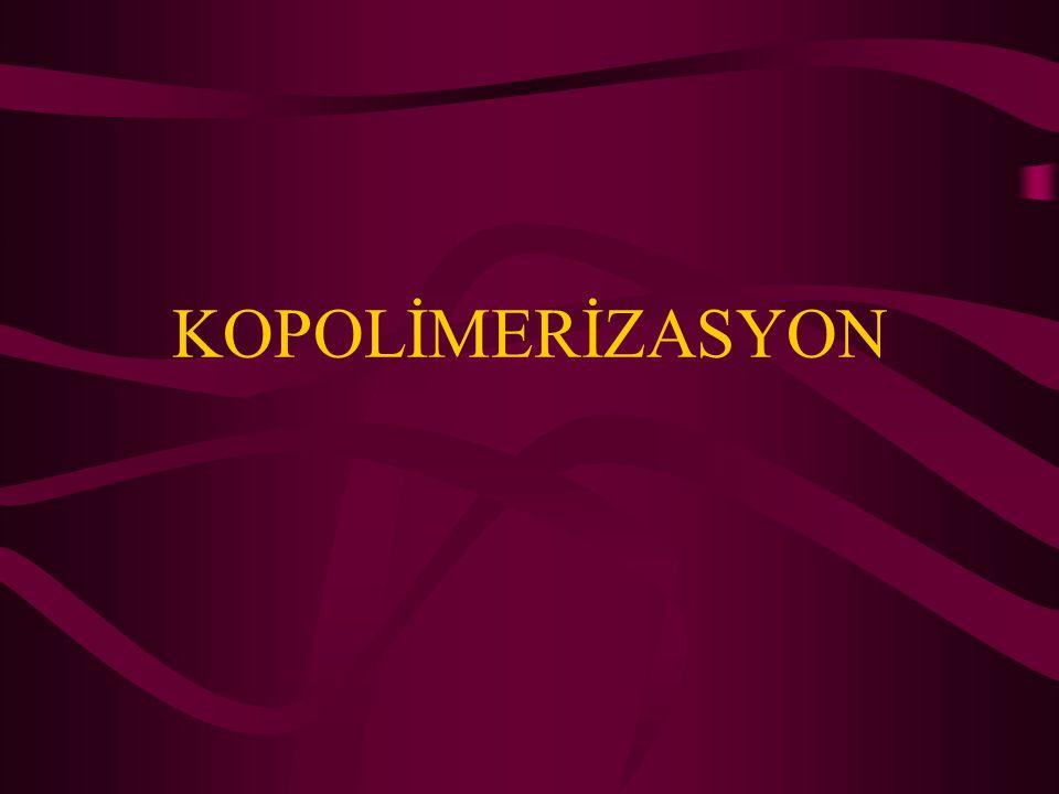 İki polimerin monomerlerinin bir polimer zincirinde birlikte bulunması (kopolimer) polimerin bazı özelliklerini geliştirebilir ya da polimere yeni özellikler kazandırabilir.