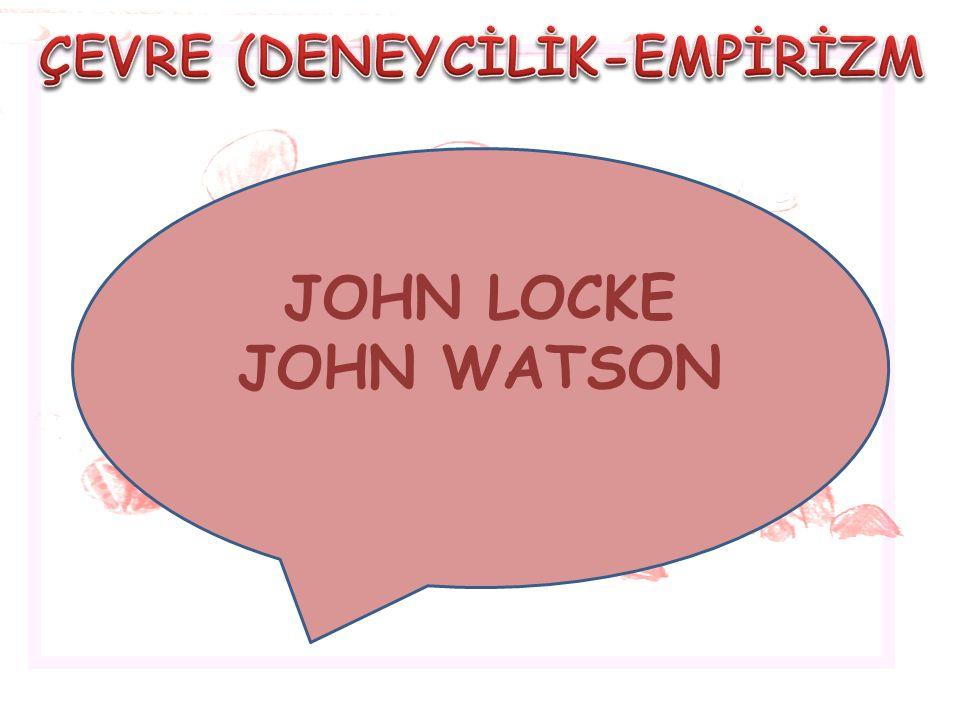 JOHN LOCKE JOHN WATSON