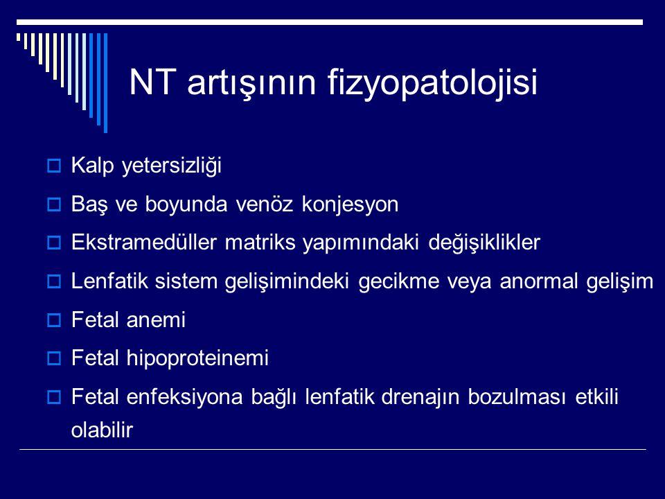NT artışının fizyopatolojisi  Kalp yetersizliği  Baş ve boyunda venöz konjesyon  Ekstramedüller matriks yapımındaki değişiklikler  Lenfatik sistem