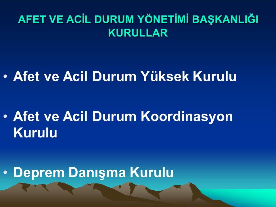 DAİRE BAŞKANLIKLARI 1.Sivil Savunma Dairesi Başkanlığı 2.