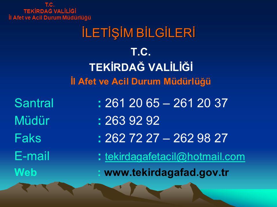 İLETİŞİM BİLGİLERİ T.C.