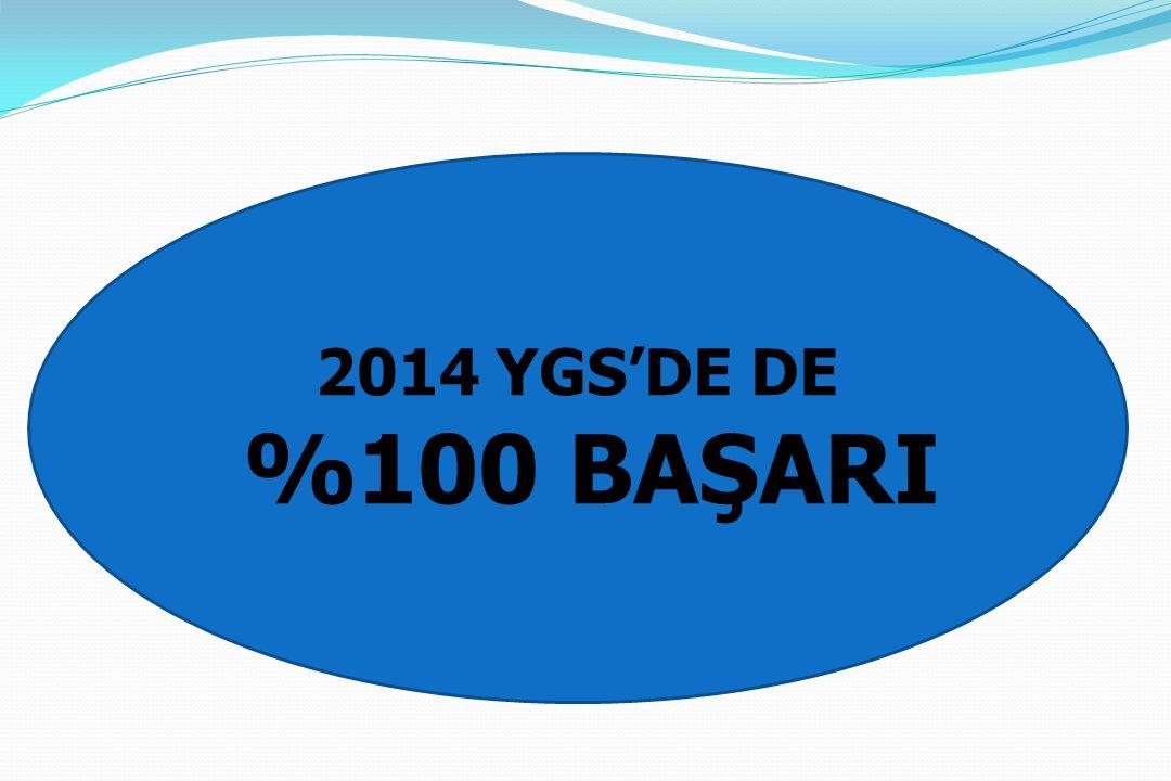 2014 YGS'DE DE %100 BAŞARI 2014 YGS'DE DE %100 BAŞARI