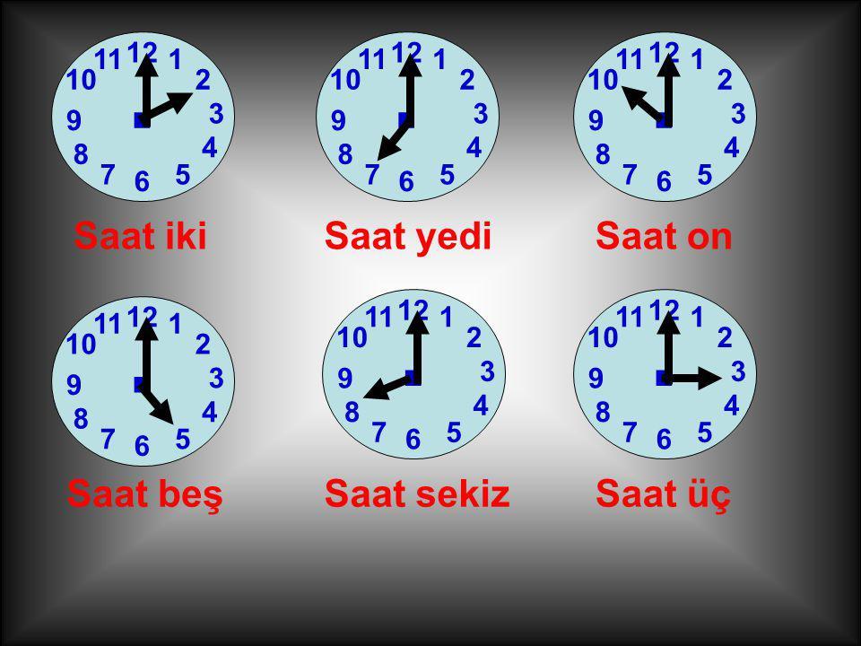 YARIM SAATLER YARIM SAAT=30 DAKİKA 1 2 7 3 6 12 4 5 11 10 8 9. Ben YELKOVAN ben 6'yı gösterdiğimde yarım saat olur.