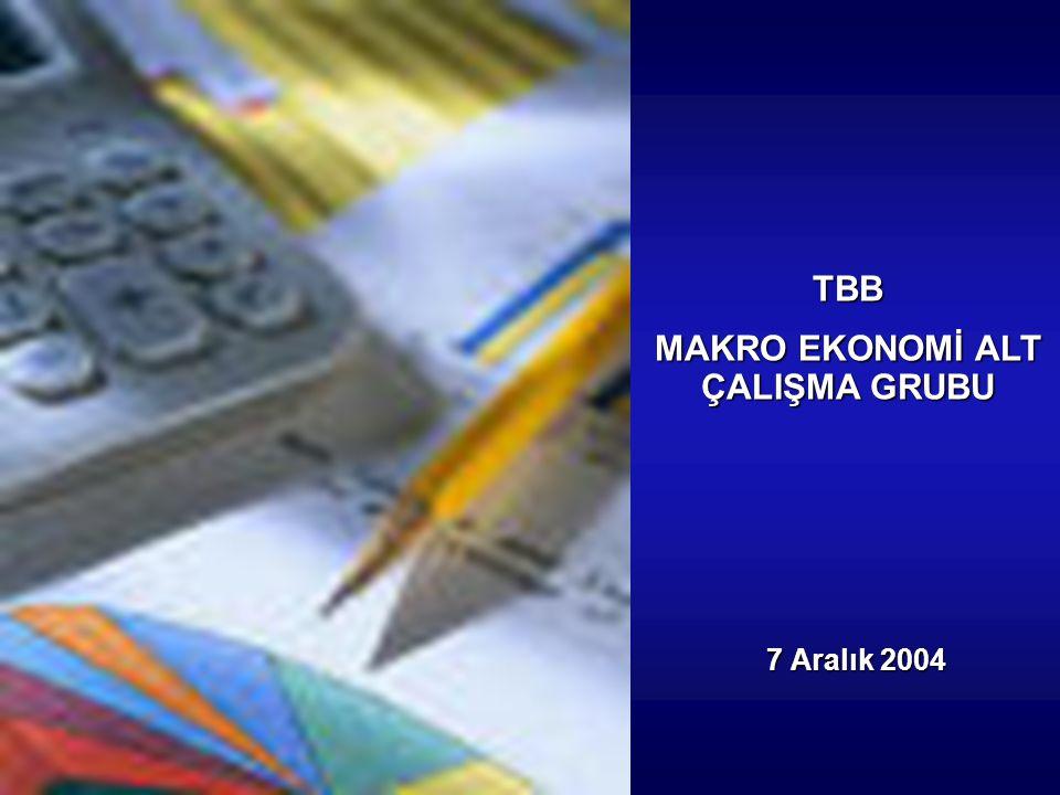 7 Aralık 2004 TBB MAKRO EKONOMİ ALT ÇALIŞMA GRUBU