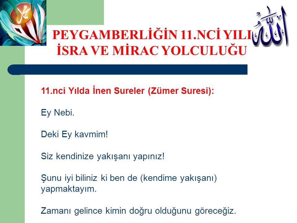 11.nci Yılda İnen Sureler (Zümer Suresi): Ey Nebi.