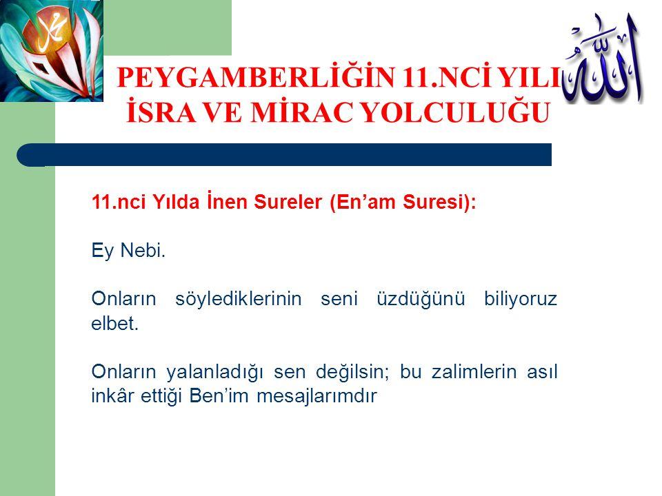 11.nci Yılda İnen Sureler (En'am Suresi): Ey Nebi.