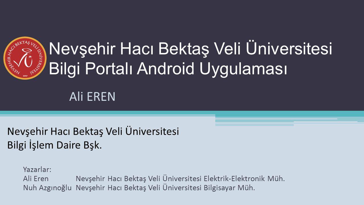 Android dünyasına ilk girişimizi yaptığımız kısım olarak uygulamamızın temelini oluşturan UBS, öğrencilerimizin daha kolay ve daha kısa sürede notlarını görüntülemesini hedef almıştır.