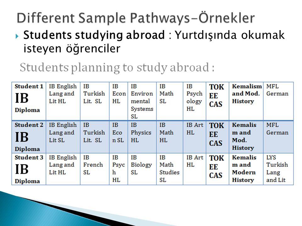 Students studying abroad : Yurtdışında okumak isteyen öğrenciler
