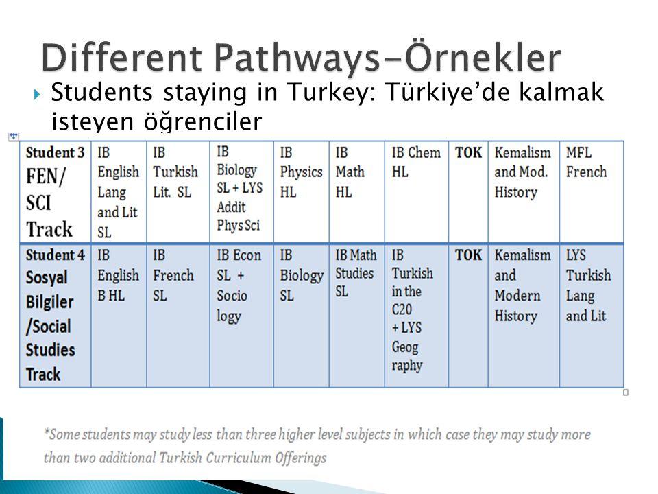  Students staying in Turkey: Türkiye'de kalmak isteyen öğrenciler