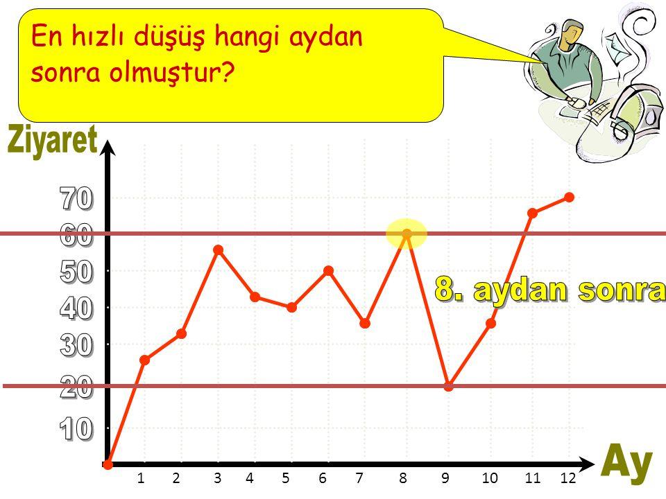123456789101112 En hızlı düşüş hangi aydan sonra olmuştur?