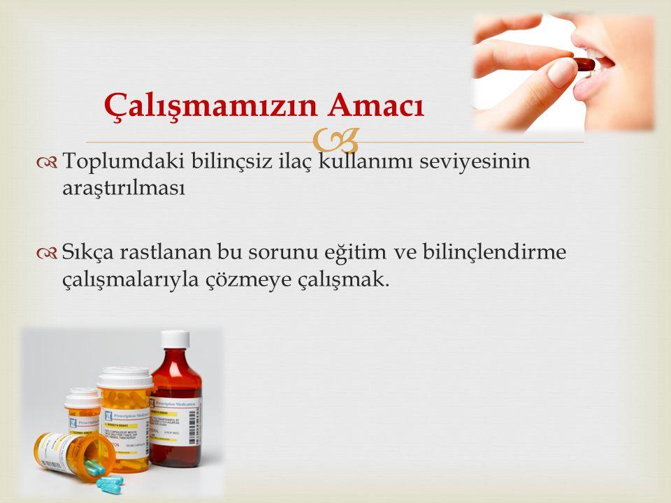 Herhangi bir ilacı kullanırken ilaç hakkında hangi bilgilere sahipsiniz .