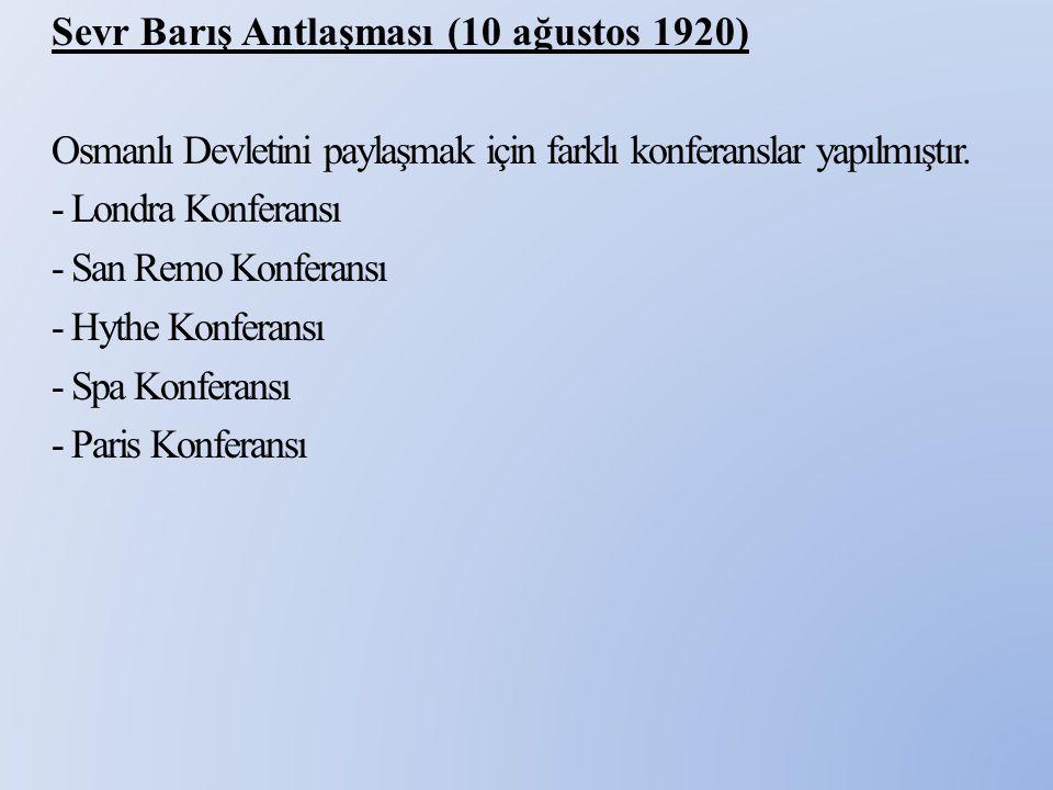 Sevr Antlaşması - Osmanlı heyetini temsil eden Tevfik Paşa anlaşamayınca geri dönmüş yerine Damat Ferit gitmiştir.