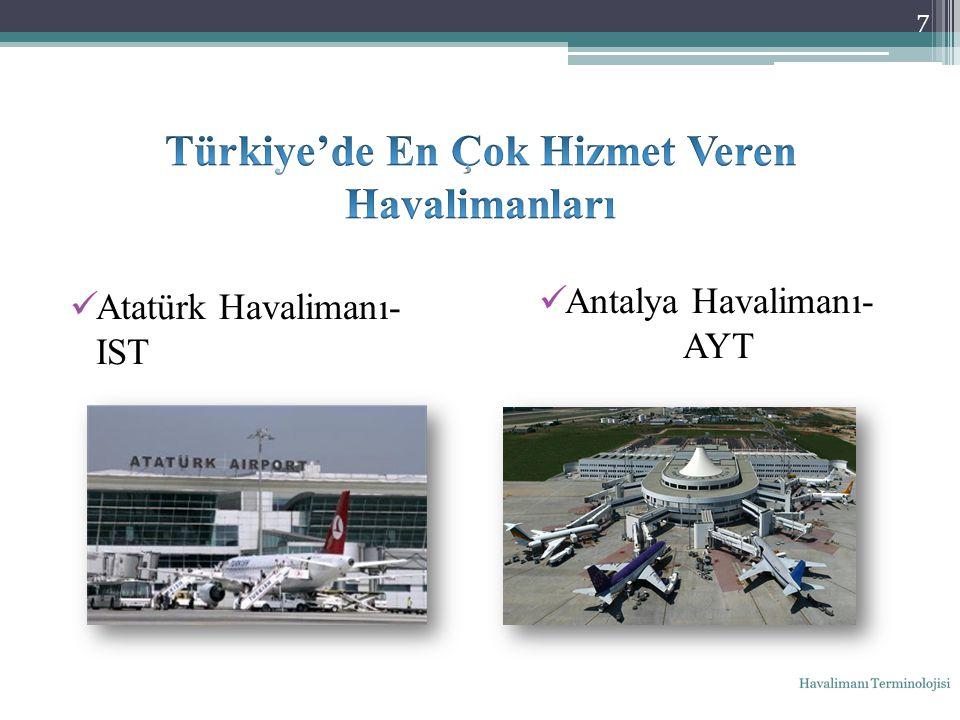 Atatürk Havalimanı- IST Antalya Havalimanı- AYT 7