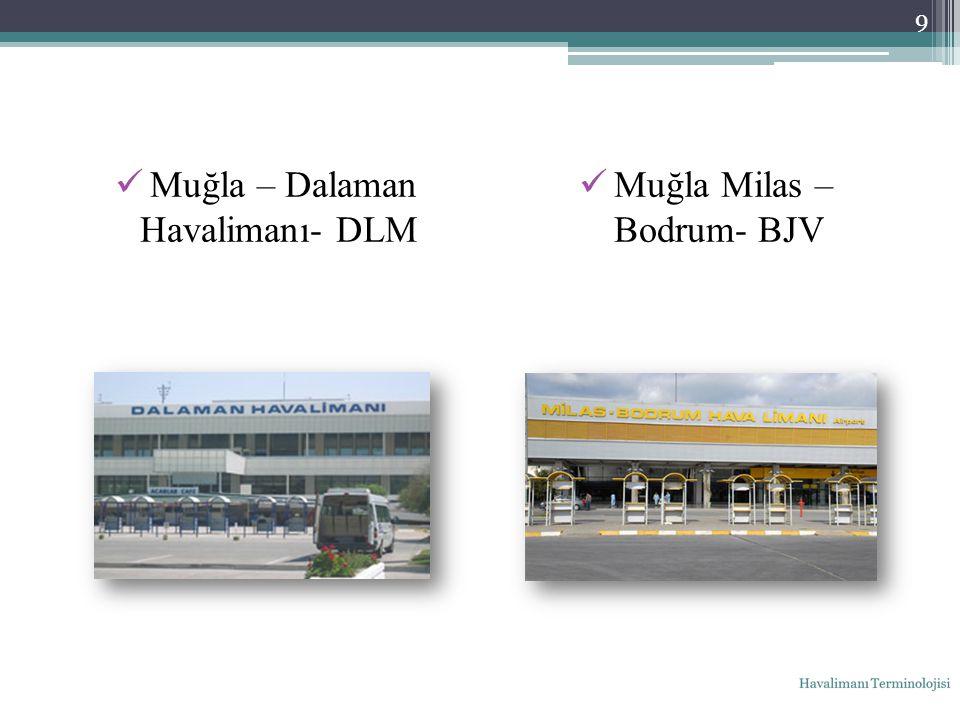 Muğla – Dalaman Havalimanı- DLM Muğla Milas – Bodrum- BJV 9
