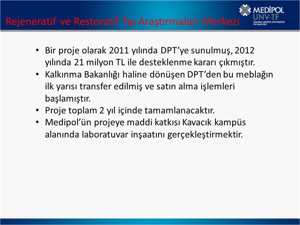 Bir proje olarak 2011 yılında DPT'ye sunulmuş, 2012 yılında 21 milyon TL ile desteklenme kararı çıkmıştır. Kalkınma Bakanlığı haline dönüşen DPT'den b