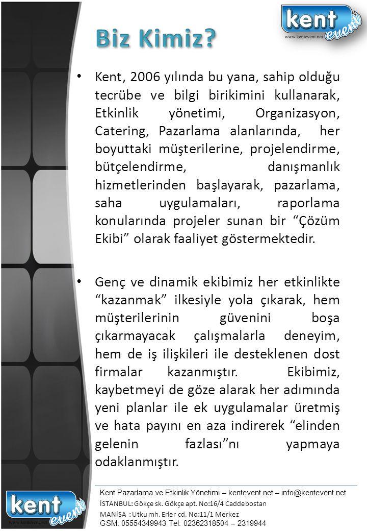 Kent, sürekli gelişen teknolojiler ve stratejiler doğrultusunda, Türkiye de yeni gereksinimlere göre, hedef kitle ile iletişimde ve amaca ulaşmada kestirme yolu değil, sağlam yolu tercih etmiştir.
