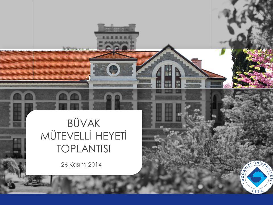BÜVAK MÜTEVELLİ HEYETİ TOPLANTISI 26 Kasım 2014 v v