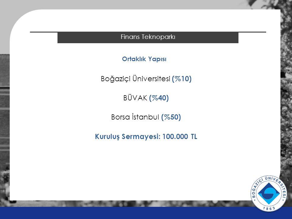 2014 ÖSYS Sonuçları Finans Teknoparkı Ortaklık Yapısı Boğaziçi Üniversitesi (%10) BÜVAK (%40) Borsa İstanbul (%50) Kuruluş Sermayesi: 100.000 TL v v