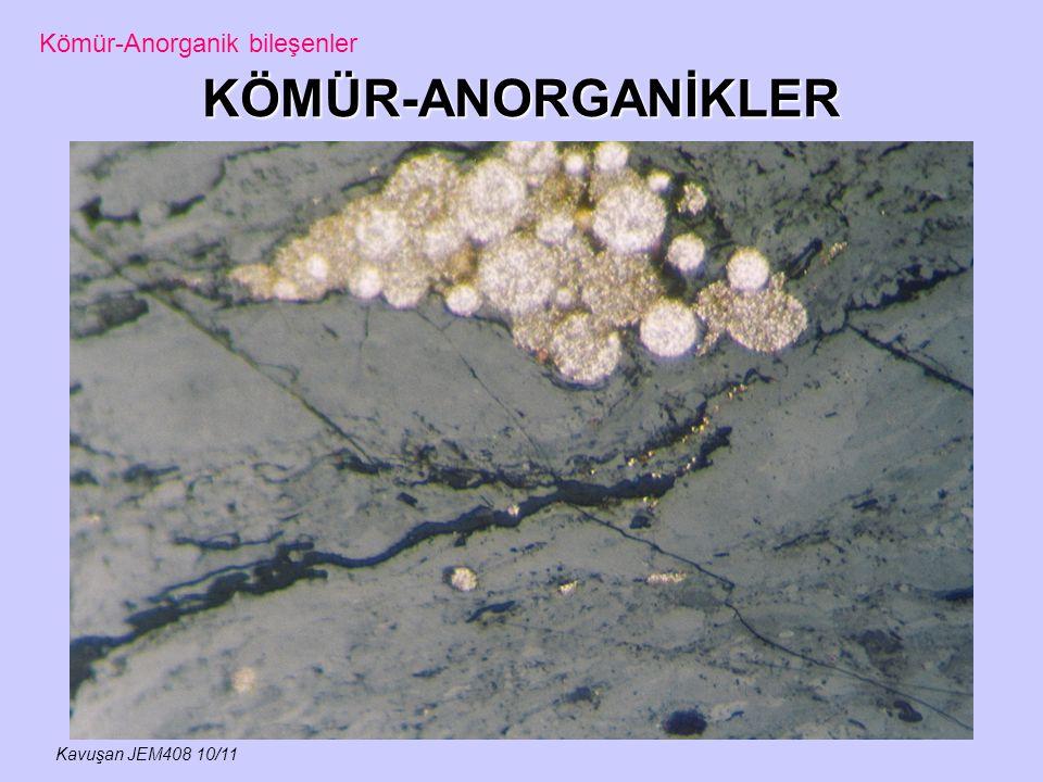 KÖMÜR-ANORGANİKLER Kavuşan JEM408 10/11 Kömür-Anorganik bileşenler