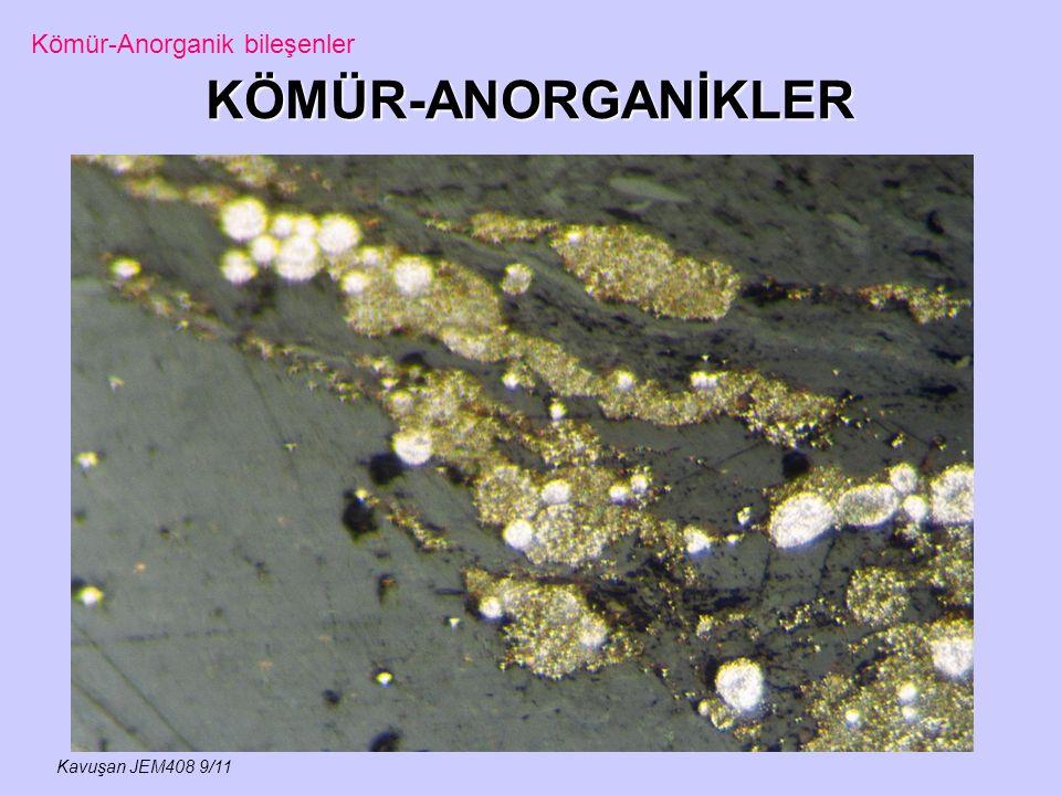 KÖMÜR-ANORGANİKLER Kavuşan JEM408 9/11 Kömür-Anorganik bileşenler