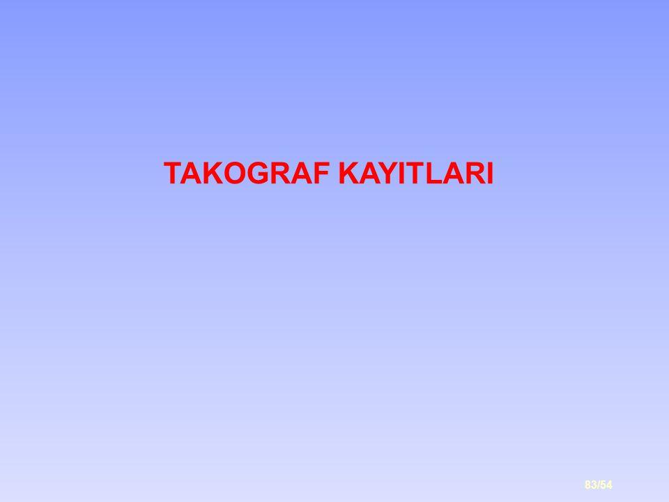 83/54 TAKOGRAF KAYITLARI
