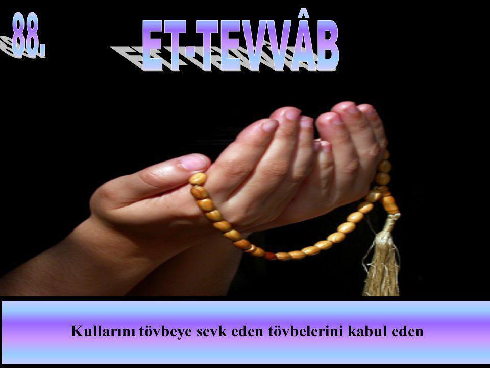 Kullarını tövbeye sevk eden tövbelerini kabul eden