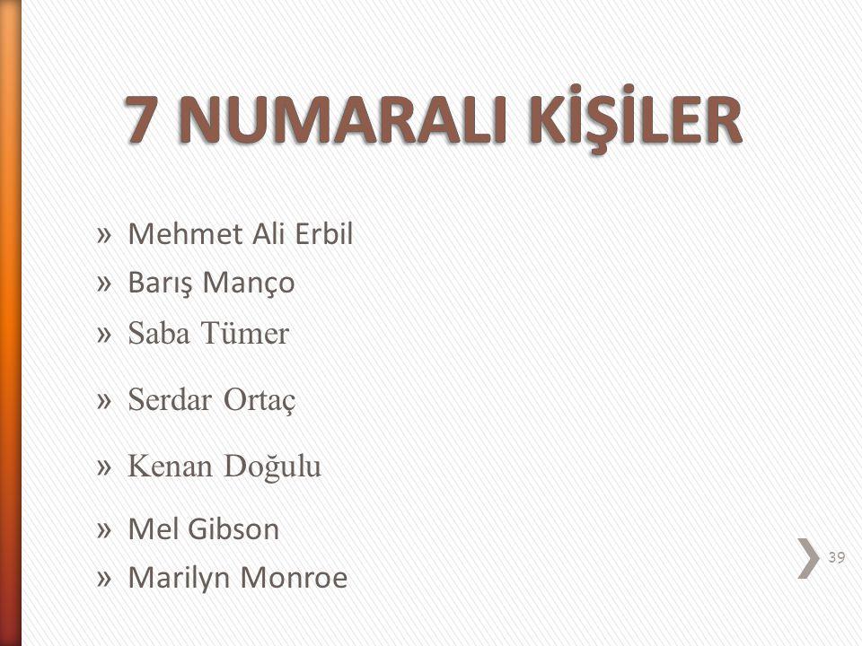 7 NUMARALI KİŞİLİK EHL-İ KEYF (Coşkulu) 38
