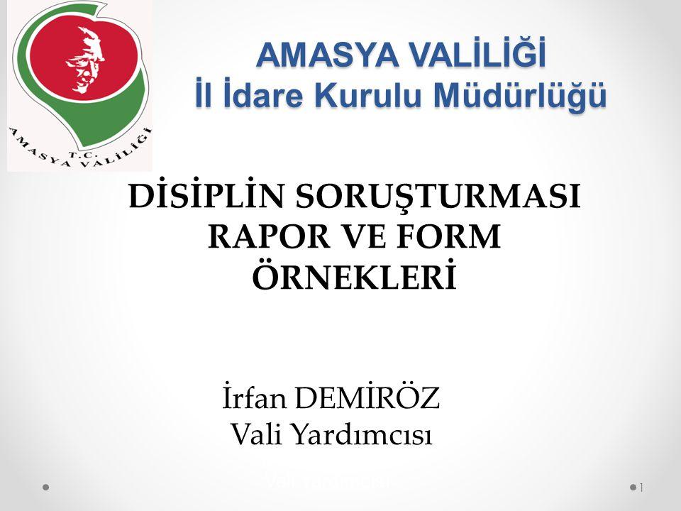 17-Hakkında Disiplin Soruşturması Yapılan Memurun Savunma ifadesinin alınması: 22