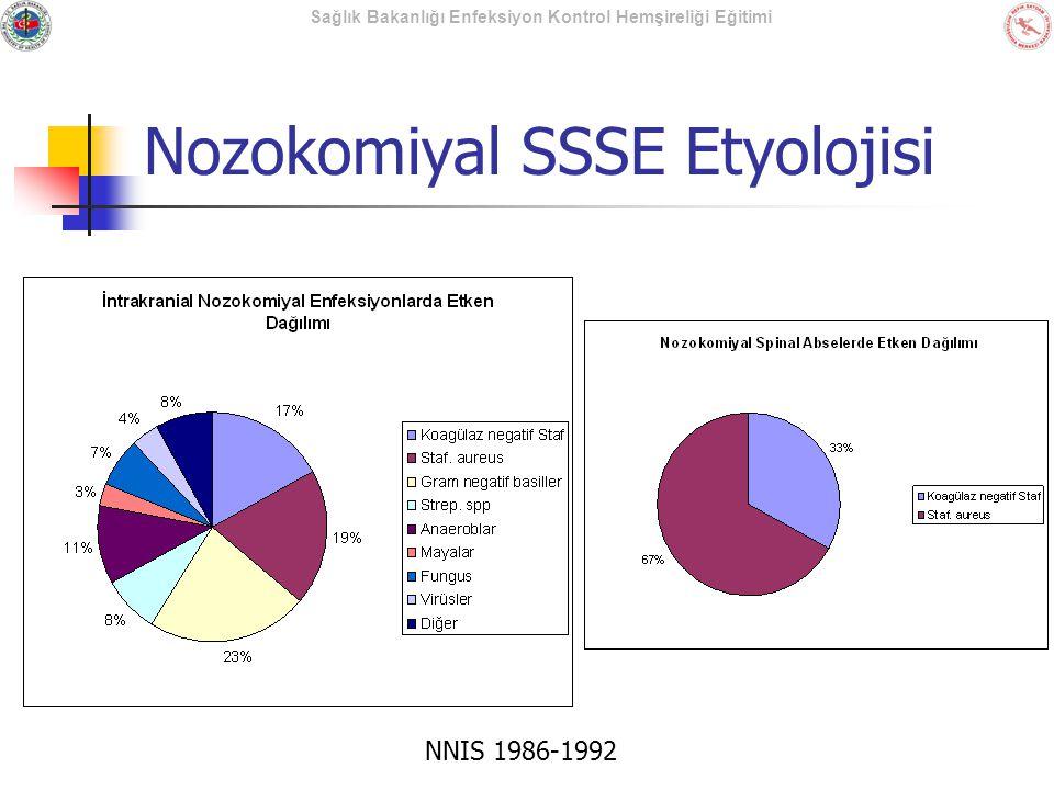 Sağlık Bakanlığı Enfeksiyon Kontrol Hemşireliği Eğitimi Nozokomiyal SSSE Etyolojisi NNIS 1986-1992