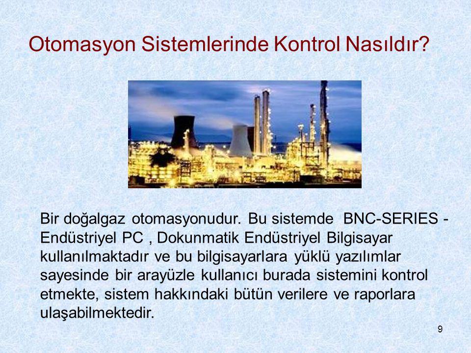 9 Otomasyon Sistemlerinde Kontrol Nasıldır.Bir doğalgaz otomasyonudur.