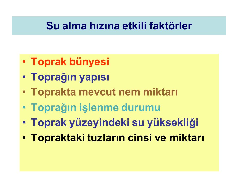 SULAMA SİSTEMLERİ 1.HİZMET ETTİKLERİ ALANA GÖRE 2.