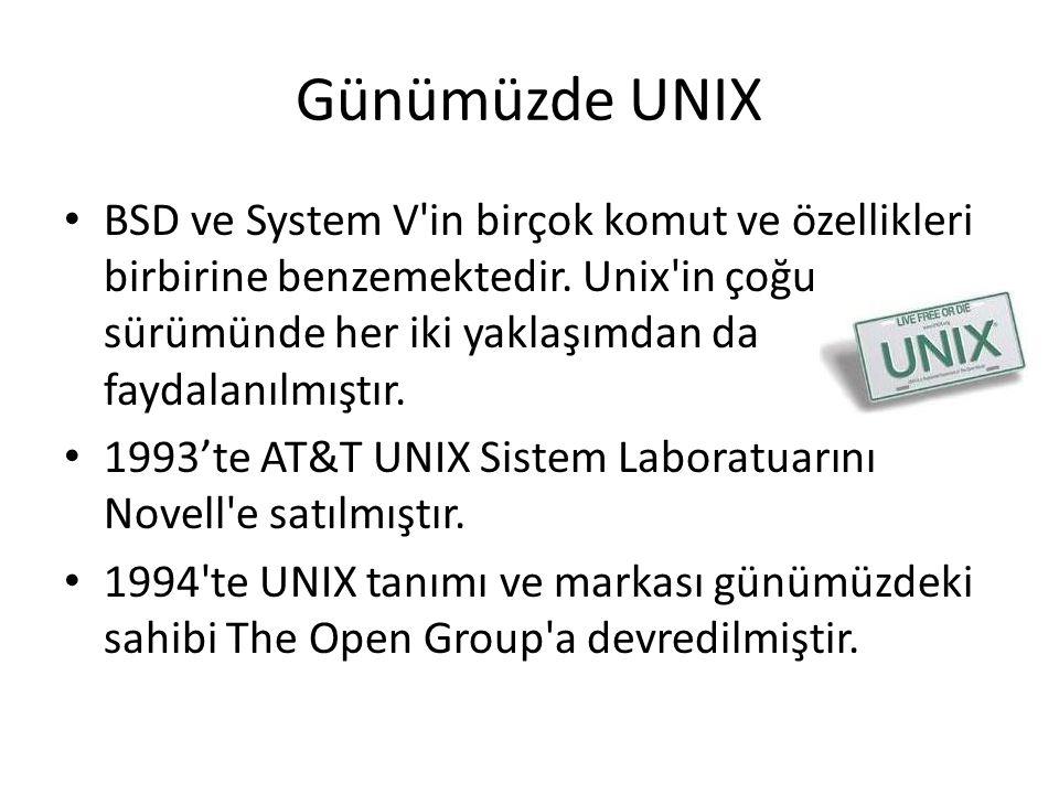 Günümüzde UNIX BSD ve System V'in birçok komut ve özellikleri birbirine benzemektedir. Unix'in çoğu sürümünde her iki yaklaşımdan da faydalanılmıştır.